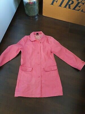 Gap girls pink Trench coat age 13