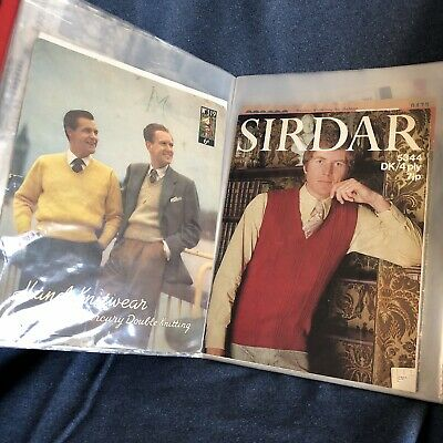 Binder Job Lot Collection Of Vintage Retro Knitting Patterns Patons 41 Styles