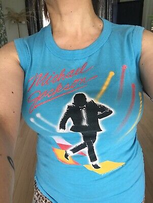 Rare Teal Vintage 80's Michael Jackson - Victory Tour t shirt 2-SIDED - vibey