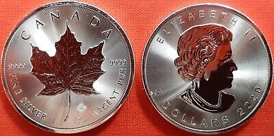 Canada 2020 Maple Leaf 1 Dollaro Foglia D'acero Oncia Argento Oz Once