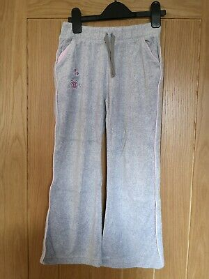 Girls Light Grey Soft Jogging Bottoms 7-8 Yrs