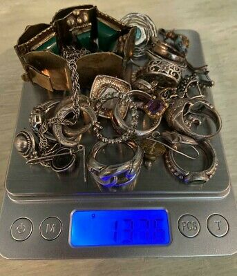 137.6 Grams Sterling Silver Scrap/Not Scrap Mixed Jewelry All Stamped 925