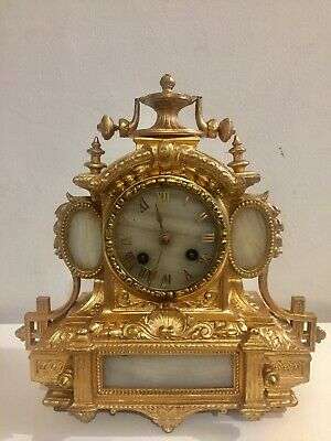 Antique French Gilt Bronze Bracket Clock By PH Mourey. C1853!