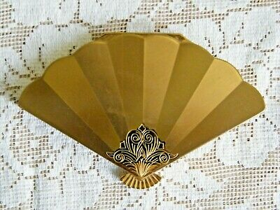 Vintage Wadsworth Fan Shaped Compact w/Puff
