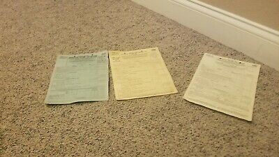 VINTAGE 1939 UNUSED 1940 & 1941 United States Federal Income Tax Forms IRS 1040
