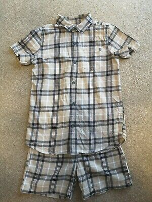 Boys River Island Mini Shirt And Shorts Set Uk age 7 to 8 years Burberry Summer