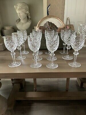 Qty 12 Waterford Crystal 7 Water Wine Glasses Castletown