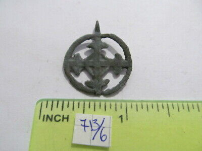 "Ancient bronze pendant ""Cross in circle"" Kievan Rus Vikings 11-13 AD №713/6"