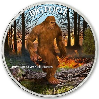 2019 USA Cryptozoology Series Bigfoot Forest Fire! - Silver Colorized Series!!