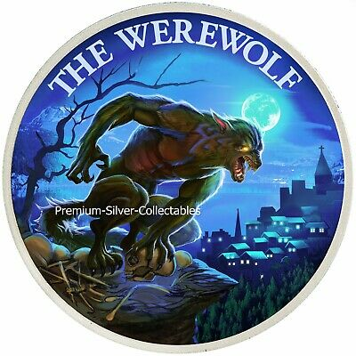 2019 USA Cryptozoology Series Werewolf! - Silver Colorized Series!!