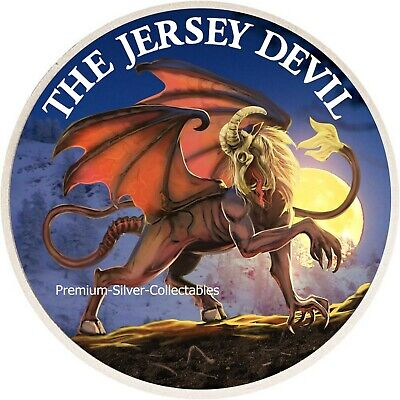 2019 USA Cryptozoology Series Jersey Devil! - Silver Colorized Series!!