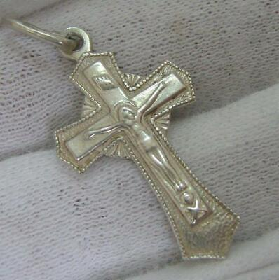 Solid 925 Sterling Silver Cross Pendant 10mm x 24mm
