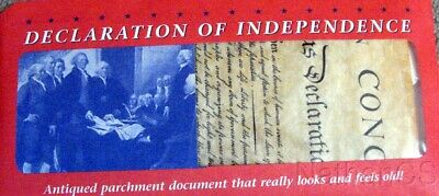 Declaration of Independence replica antiqued parchment copy