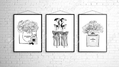 Coco A4 3 Wall Prints Bedroom Dressing Room Home Poster Art Gift 4 Inspired