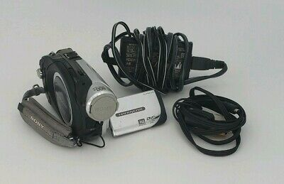 """Sony Handycam (DCR-DVD92) Night Shot 2.5"""" Touchscreen Camcorder Tested Works"""