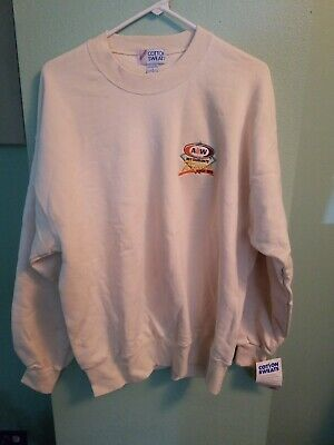 A&W Root beer collectibles sweater 75 years size large cream made in usa