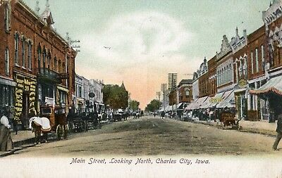 Main Street in Charles City IA 1907