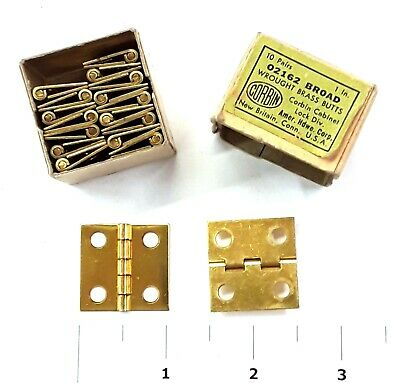 9 pr. New-Old-Stock Corbin Wrought Brass Butt Hinges, 1-in. — Free Shipping!