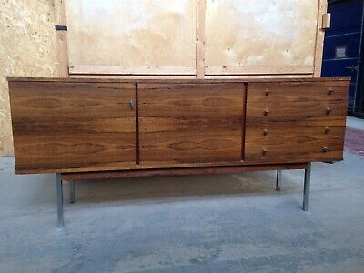 Vintage rosewood and chrome sideboard