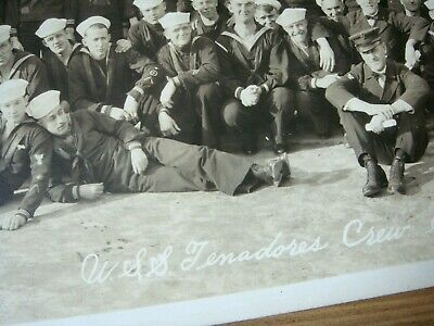Rare Original WWI U.S. Navy USS Tenadores Crew Shipwrecked 1918 Yard Long Photo