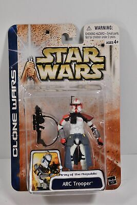 Star Wars 2003 Clone Wars ARC Trooper Army of the Republic Red #43 NIP Has Wear