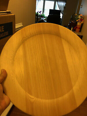 "2 Wooden Plates To Paint14"" Round"
