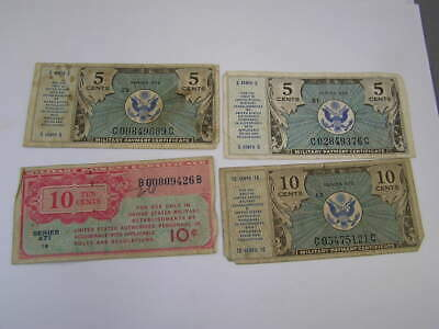 Japanese Military Currency 4 Pieces