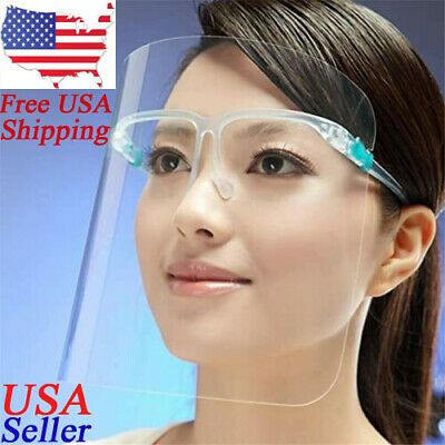 Eye Glass Face Shield Full Face Safety Guard Protector Clear  SHIP FROM USA New