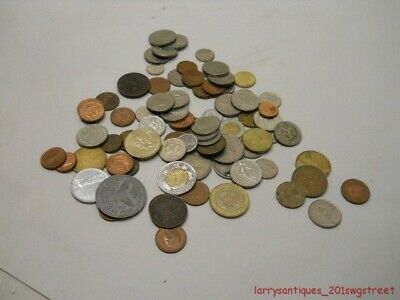 ~Group~ Misc. Lot Of Vintage Foreign Coins Sell For One Money (Nr)