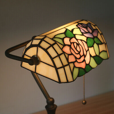 16inch Room LampTable Lamp Glass Shade Reading Light Study Living/Bed Tiffany