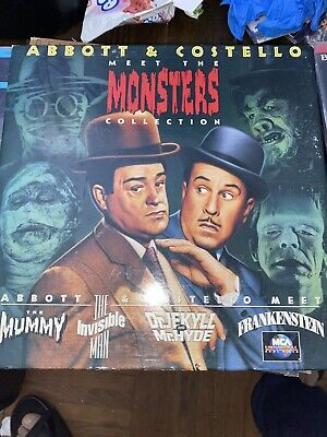 Abbott & Costello Meet The Monsters Collection (Laserdisc)