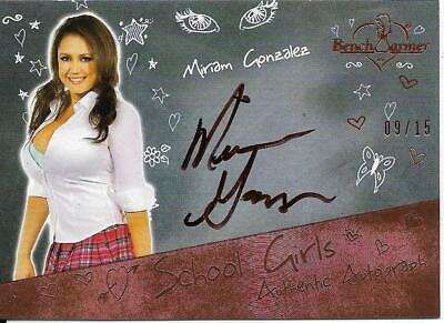 2020 Benchwarmer Hot For Teacher Miriam Gonzalez Autograph Card /15