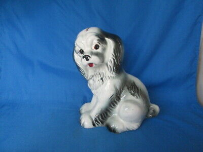 Cavalier King Charles Spaniel Dog Ceramic Bank Figurine Vintage Japan RARE
