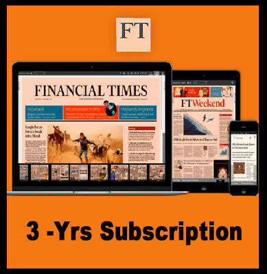 Financial Times Digital 3 Year Subscription, PC, IOS/Android Unrestricted