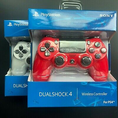 Sony PS4 DUALSHOCK 4 Wireless Controller for PlayStation 4 white and red