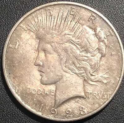Beauty Early - 1923-D - Peace Silver Dollar - 90% US Coin