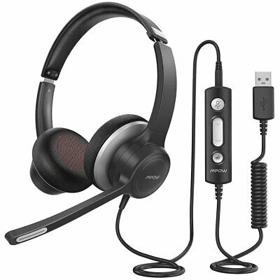 Mpow HC6 USB Noise Cancelling Microphone Computer Headset Call Centrer Headphone