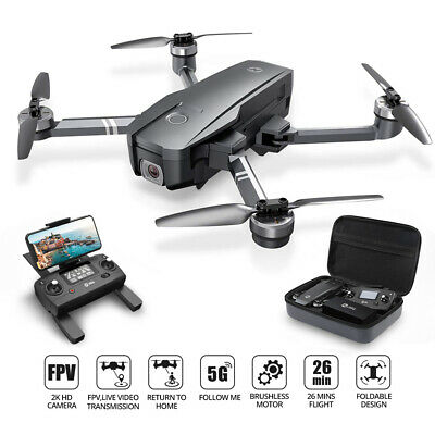 Holy Stone HS720 foldable GPS drone 2K FHD camera brushless 5G quadcopter +case