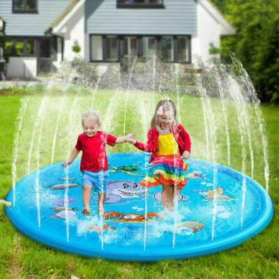 Large Inflatable Play Mat Water Toys Outdoor Party Sprinkler Splash Pad for Kids