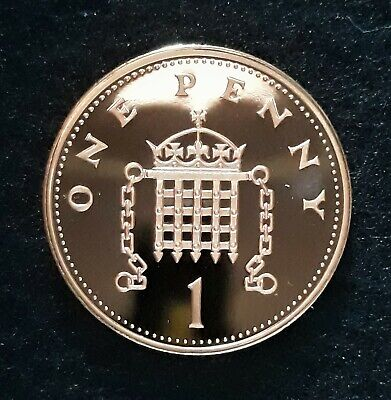 1999 Royal Mint Crowned Portcullis Chains One Penny 1p UK Uncirculated Coin