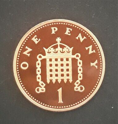 1994 Royal Mint   Crowned Portcullis Chains One Penny 1p UK Uncirculated Coin