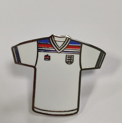 England 1982 Retro Classic Football Home Kit Enamel Souvenir Pin Badge - White