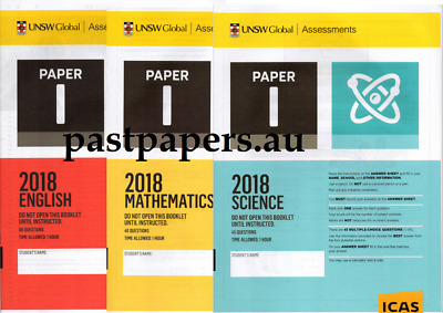 ICAS past papers - Paper I Year 11 + Paper J Year 12 sets - (Fast e-delivery)