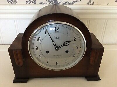 Antique Art Deco Smiths Enfield Chiming  Mantel Clock