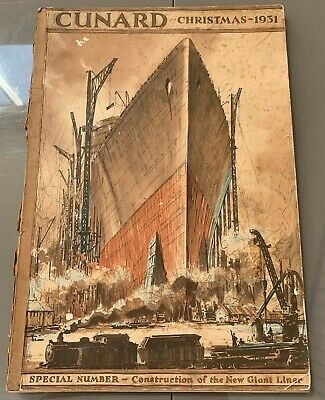 Very Rare 1931 Cunard White Star Line magazine of the ocean liner Queen Mary.