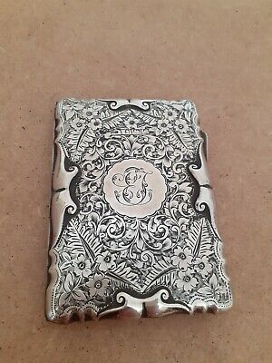 Antique solid silver card case