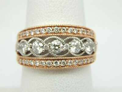 1//10 cttw, Diamond Wedding Band in 14K Pink Gold G-H,I2-I3 Size-13