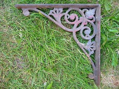 Antique Single large Decorative iron Bracket-Shelf Garden Hanging Basket Sign