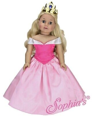 "DOLL CLOTHES - PINK PRINCESS GOWN -  fits  AMERICAN GIRL DOLL AND MOST 18"" DOLLS"