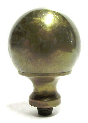 """ANTIQUE 1-3/4"""" Heavy Solid Brass Ball Finial Newel Post Rod End"""